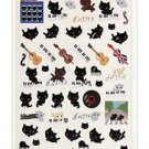 San-X Kutusita Nyanko Music in London Series Sticker - #401