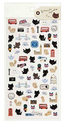 "San-X Kutusita Nyanko ""Music in London"" Series Sticker - #2"