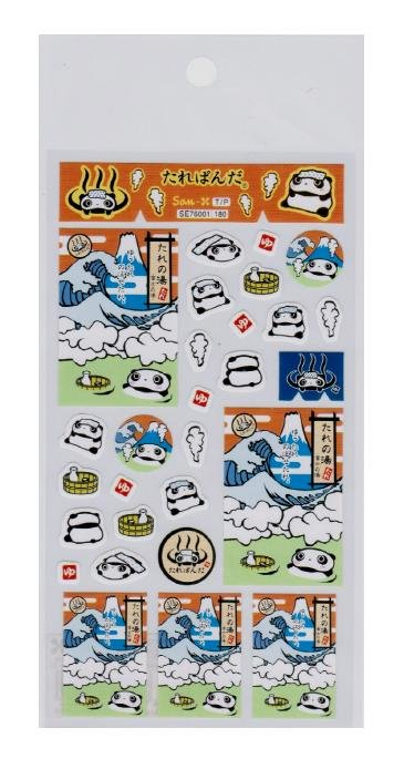 San-X Tare Panda Sticker - Orange