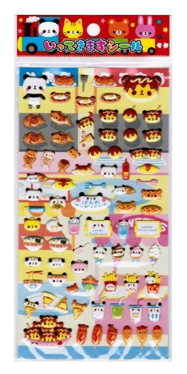"Kamio Japan ""Panda Food Court"" Spongy Sticker"