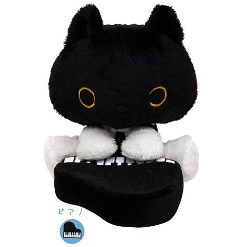 San-X Kutusita Nyanko Romantic Music Series Plush - Pianist