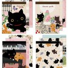 "San-X Kutusita Nyanko ""Rose Garden"" Mini Memo - Set of 4"