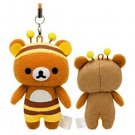"San-X Rilakkuma ""Honey & Smile"" Series Cell Phone Strap & Screen Cleaner"