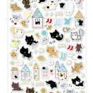 San-X Kutusita Nyanko &quot;Secret Meetings of the Cat&quot; Series Clear Sticker with Gold Accent