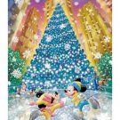 "Tenyo Disney Mickey & Minnie ""Romance on Ice"" Stained Art Jigsaw Puzzle"