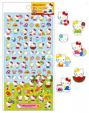Kamio Japan Sanrio Hello Kitty Petite Sticker - Summer Picnic