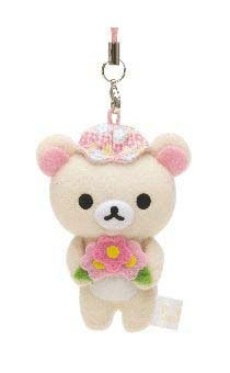 "San-X  Korilakkuma ""Happy Holiday Picnic"" Series Cell Phone Strap & Screen Cleaner"