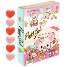 San-X Piggy Girl Memo Flap with Heart Shaped Erasers