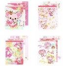 Set of 4 San-X Piggy Girl Mini Memo Pad - MM98101