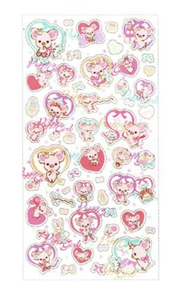 San-X Piggy Girl Hologram Sticker - #802