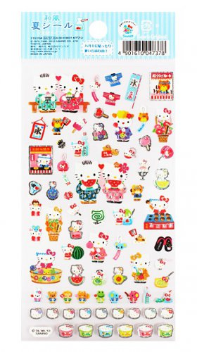 Sanrio Hello Kitty 2012 Summer Collection Washi Sticker