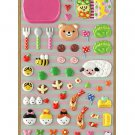 "P-Work Food Collection Sponge Sticker ""Character Bento"""