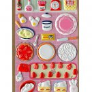 "P-Work Food Collection Sponge Sticker ""Strawberry Shortcake"""