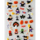 "P-Work Cute ""Halloween Witches & Jack-O-Lanterns"" Puffy/Sponge Sticker"