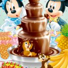 "Disney Mickey & Minnie ""Sweet Fountain"" - Yanoman Petit Jigsaw Puzzle"