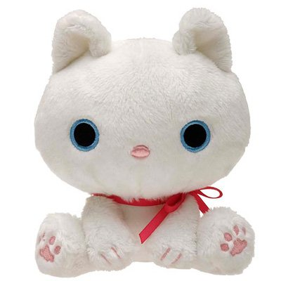 San-X Kutusita Nyanko White Cat Series Plush - Shiro Chan
