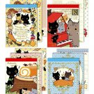 "San-X Kutusita Nyanko ""Recipe"" Series Mini Memo Pad - Set of 4"