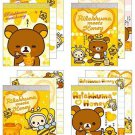 San-X Rilakkuma Honey & Smile Series Mini Memo - Set of 4