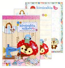 "San-X Kireizukin Seikatu ""Daily Handicraft"" Mini Memo - Set of 4"
