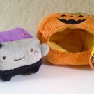 Passport Hannari Tofu Halloween Bat Mascot Plush in Pumpkin Costume