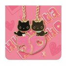 San-X Kutusita Nyanko Pair Cell Phone Straps - Heart