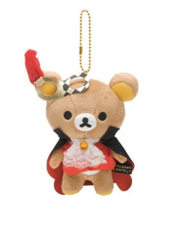 San-X Rilakkuma Halloween Series Hanging Plush - Masquerade Party