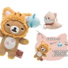 San-X Rilakkuma Store Carefree Cat Series Plush - Rilakkuma & Cat