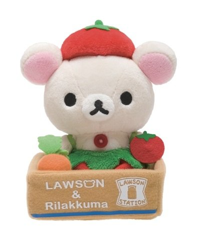 San-X Rilakkuma Lawson Vegetable Series Plush - Tomato