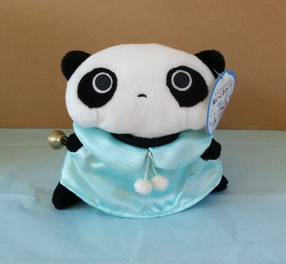 San-X Tare Panda Blue Angel Plush with Bell