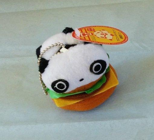 San-X Tare Panda Fast Food Series Hanging Plush - Burger