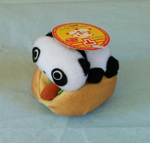 San-X Tare Panda Fast Food Series Hanging Plush - Hot Dog