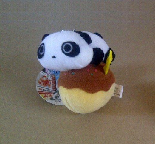 San-X Tare Panda Fast Food Series Hanging Plush - Takoyaki