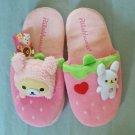 San-X Rilakkuma Strawberry Love! Korilakkuma Usagi Series Slippers