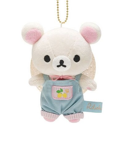 San-X Rilakkuma Fresh Lemon Series Hanging Plush - Korilakkuma