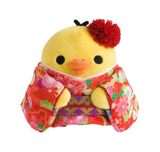 San-X Rilakkuma in Kimono Plush - Kiiroitori