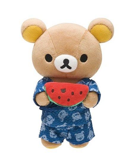 San-X Rilakkuma Summer Vacation Series Plush - Rilakkuma & Watermelon