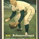 1957 Topps baseball set # 154 Red Schoendienst HOF New York Giants