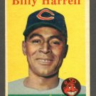 1958 Topps baseball set # 443 Billy Harrell SP Cleveland Indians