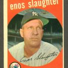 1959 Topps baseball set # 155 Enos Slaughter HOF New York Yankees