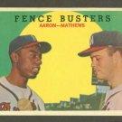 1959 Topps baseball set # 212 Hank Aaron & Ed Mathews