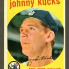 1959 Topps baseball set # 289 Johnny Kucks New York Yankees