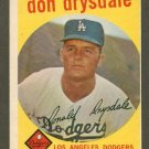 1959 Topps baseball set # 387 Don Drysdale HOF Los Angeles Dodgers