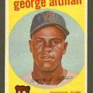 1959 Topps baseball set # 512 George Altman Chicago Cubs
