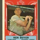 1959 Topps baseball set # 557 Ken Boyer All Star St. Louis Cardinals