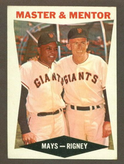 1960 Topps baseball set # 17 Willie Mays & Bill Rigney