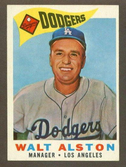 1960 Topps baseball set # 212 Walter Alston HOF Los Angeles Dodgers