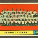 1961 Topps baseball set # 51 Detroit Tigers team card