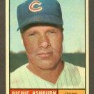 1961 Topps baseball set # 88 Richie Ashburn HOF Chicago Cubs
