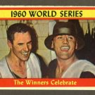 1961 Topps baseball set # 313 The Winners Celebrate