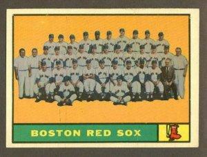 1961 Topps baseball set # 373 Boston Red Sox team card